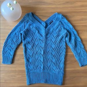 Club Monaco Blue Cotton Sweater Size Small